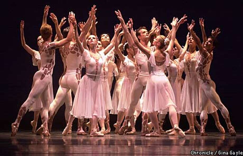 "Ballet San Jose Silicon Valley performed ""Celebrations and Ode,'' danced to Beethoven's Seventh and Ninth symphonies. Chronicle photo by Gina Gayle"
