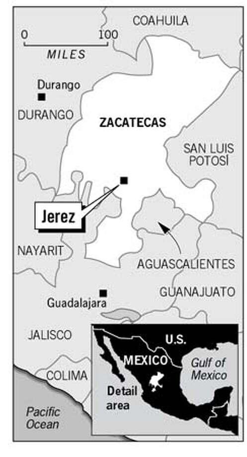 Jerez, Mexico. Chronicle Graphic
