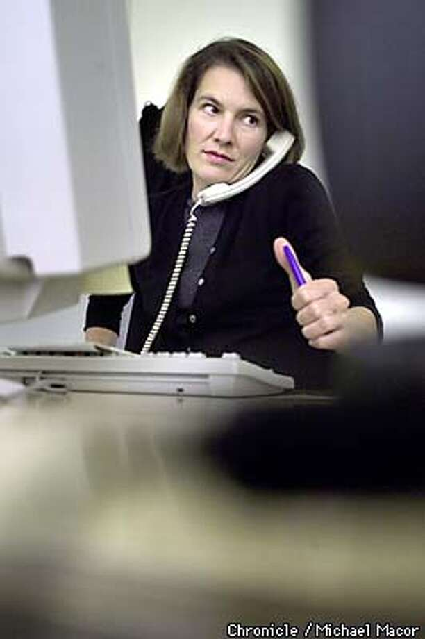 """WIRED MAGAZINE"", Editor Katrina Heron at work in her office. by Michael Macor/The Chronicle Photo: MICHAEL MACOR"