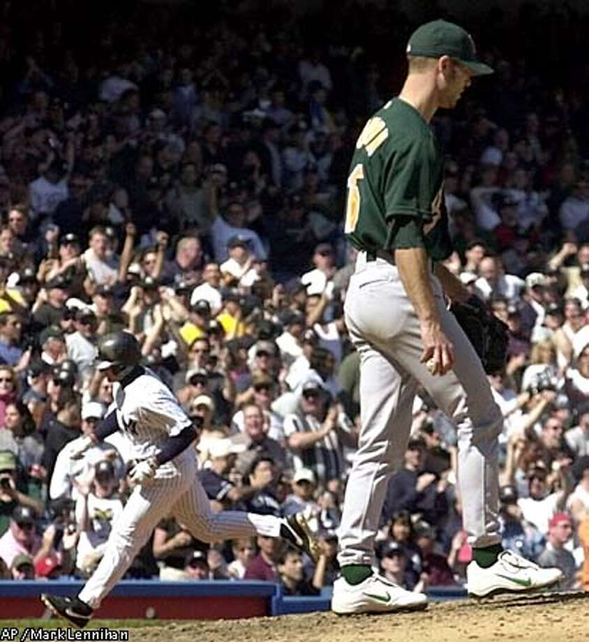 Tim Hudson gave up 12 hits, including Chuck Knoblauch's homer. Associated Press photo by Mark Lennihan