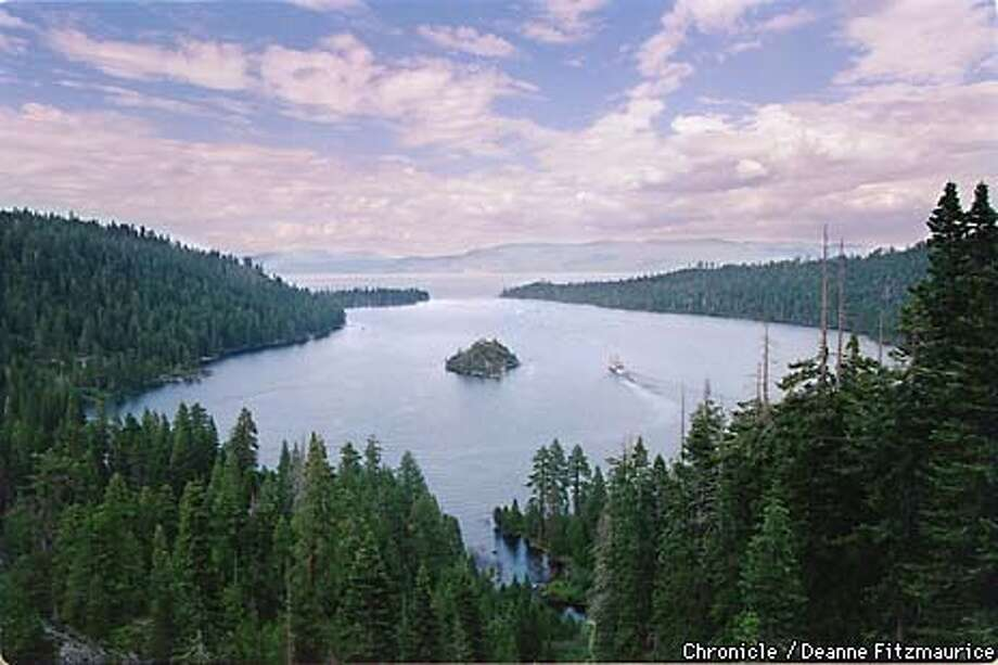 Emerald Bay is one of the more picturesque parts of Lake Tahoe. There is a presidential summit there to determine ways to keep the lake pristine. CHRONICLE PHOTO BY DEANNE FITZMAURICE