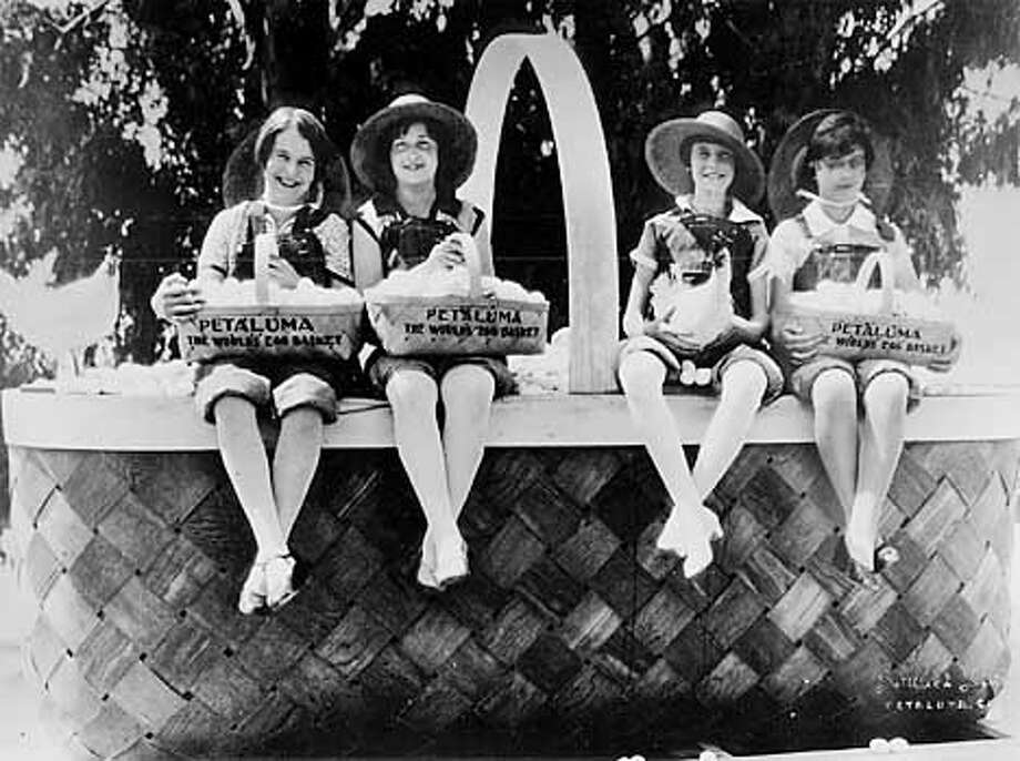 Locals promoted Petaluma during the original Egg Days celebration held annually from 1918 through 1926.