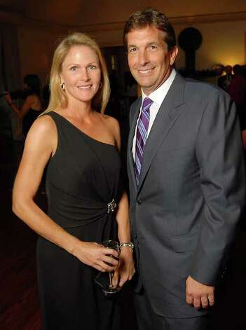 Heather Colby and John Goodman at the Memorial Park Conservancy Gala at The Bayou Club Thursday Oct. 15,2009. (Dave Rossman/For the Chronicle) Photo: Dave Rossman, Houston Chronicle / Freelance