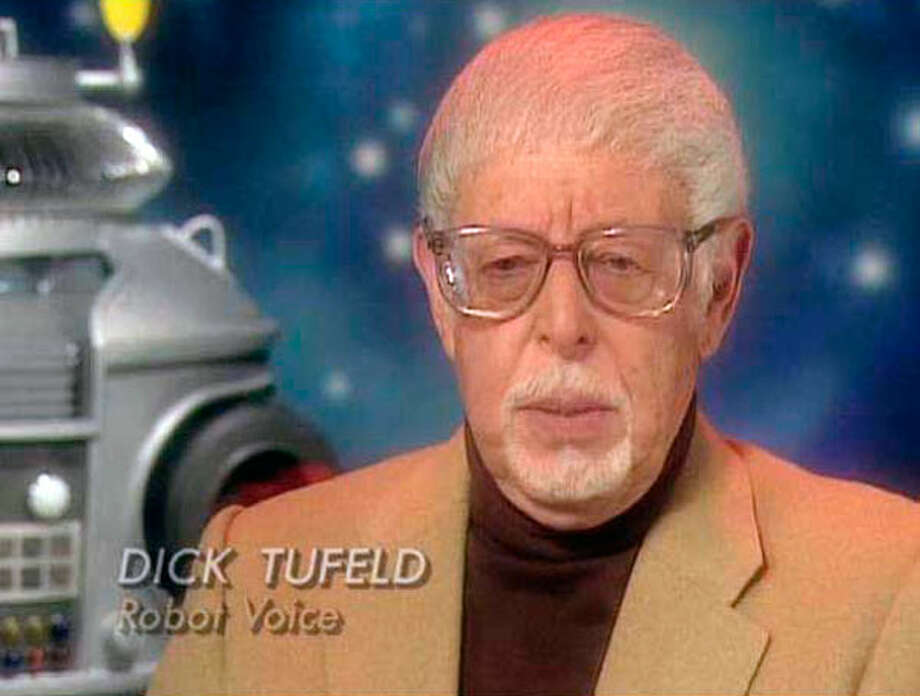 "Dick Tufeld, 85,  a voice actor and announcer and the voice of Robot B-9 on TV's ""Lost in Space.""