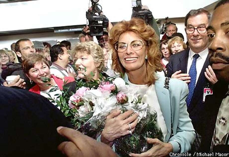 Italian actress Sophia Loren arrives at San Francisco International Airport. In town to promote Italian Air carrier ALITALIA AIRLINES. by Michael Macor/The Chronicle Photo: MICHAEL MACOR