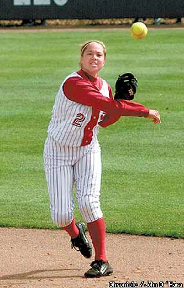 Kira Ching, who plays second base, now starts for the Cardinal. Chronicle photo by John O'Hara