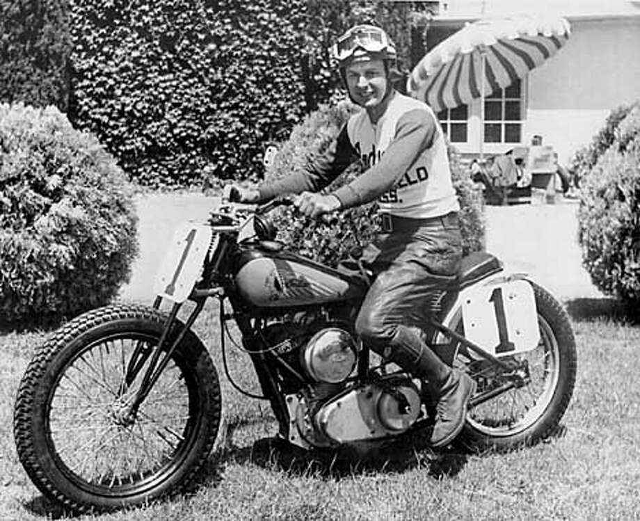 Bobby Hill, shown here in the 1950s, and Bill Tuman will be grand marshals of Vintage Motorcycle Days West at Sears Point Raceway.