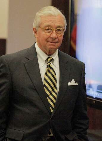 Attorney Dick DeGuerin, who is representing Jon Thomas Ford, is shown during a break Wednesday, Feb. 1, 2012, in San Antonio. Ford is accused of murdering ex-girlfriend Dana Clair Edwards following a New Year's Eve party, in the early hours of 2009. Photo: Darren Abate, Darren Abate/Special To The Expr