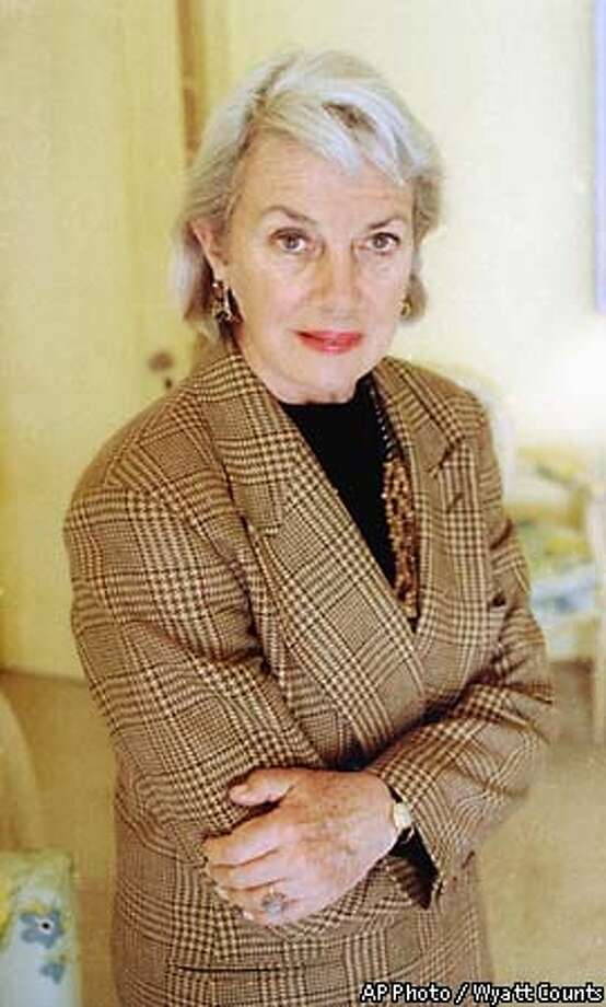 FILE-- Author Alice Adams is shown in this April 22, 1991 file photo. Adams, a longtime short story writer for The New Yorker and a novelist whose ``Superior Women'' became a best seller, died in her sleep Thursday, May 27, 1999. She was 72. ( AP Photo / Wyatt Counts / file )