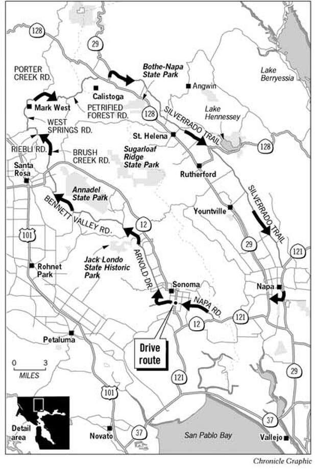 Sonoma/Napa Counties Loop. Chronicle Graphic