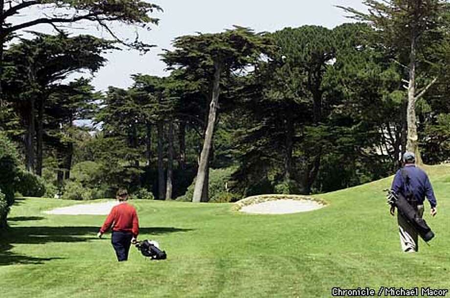Green With Envy: The Golden Gate Golf Course is a challenging tree-lined experience. Chronicle photo by Michael Macor