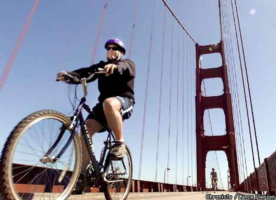 Well Spoke-N: The Golden Gate is always a great commute. Chronicle photo by Lance Iversen