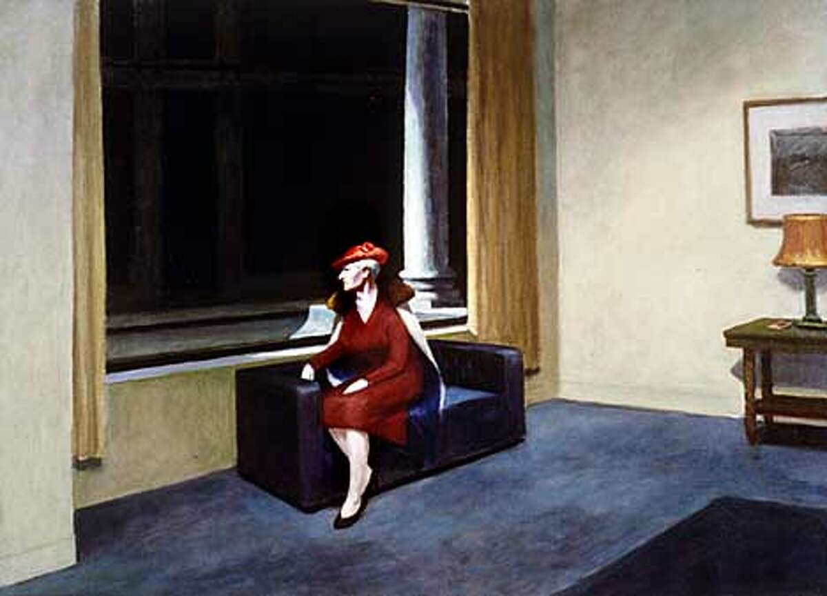 """Edward Hopper's """"Hotel Window'' is part of Steve Martin's art collection now on display at the Bellagio in Las Vegas. Photo courtesy of the private collection of Steve Martin"""