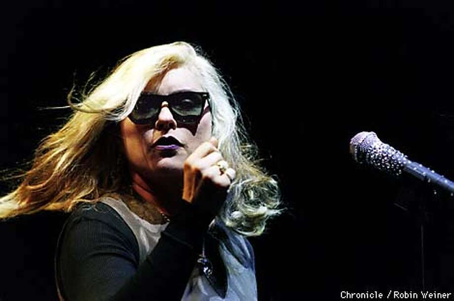 Blondie's Debbie Harry shakes things up as she dances during the opening numbers at the Warfield in San Francisco.  BY ROBIN WEINER/THE CHRONICLE Photo: ROBIN WEINER