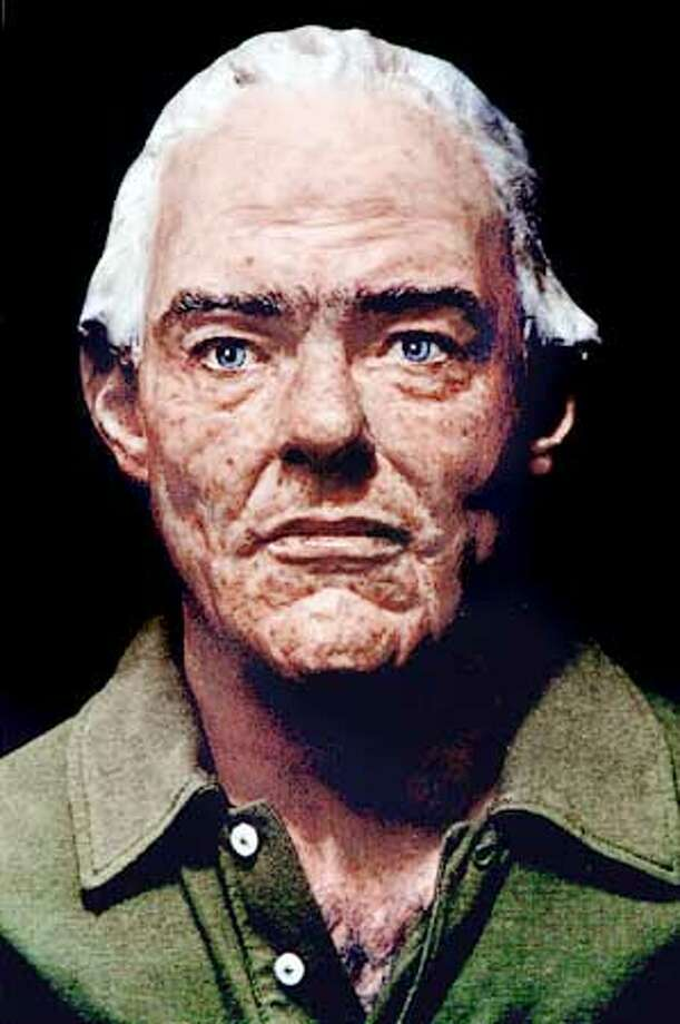 James Kilgore as he might appear today as envisioned by forensic sculptor Frank Bender