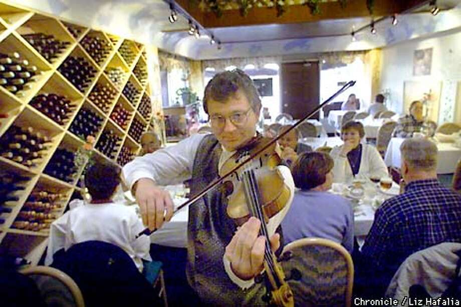 Prevot's restaurant offers live music Wednesday-Thursday featuring violinist Tibor Horvath. Chronicle photo by Liz Hafalia