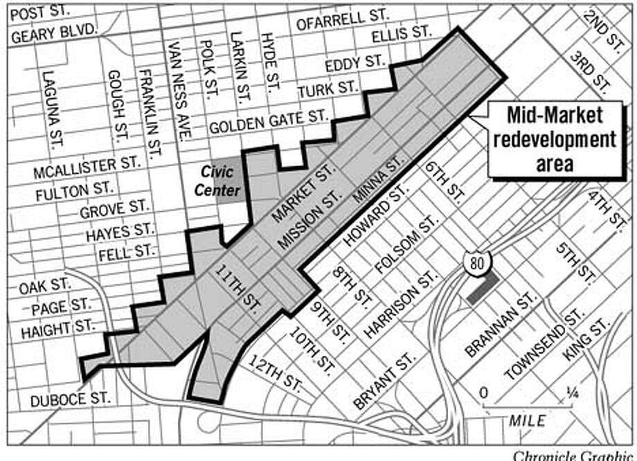 Mid-Market Redevelopment Area. Chronicle Graphic