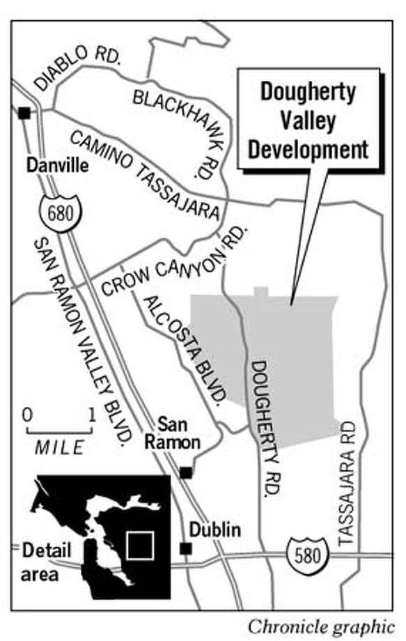 Dougherty Valley Development. Chronicle Graphic