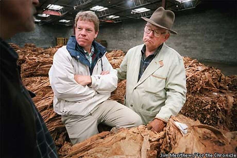 Andy Graves and his father Jake, at right, both of Paris, Ky., attended the first day of burley sales at Tattersalls Warehouse in Lexington, Ky. to see what prices the tobacco was going to go for on Monday morning November 23, 1998. Andy Graves is one of several Kentuckians spearheading the attempt to legalize the growing of industrial hemp in the United States. MUST CREDIT: JIM MERITHEW/FOR THE CHRONICLE