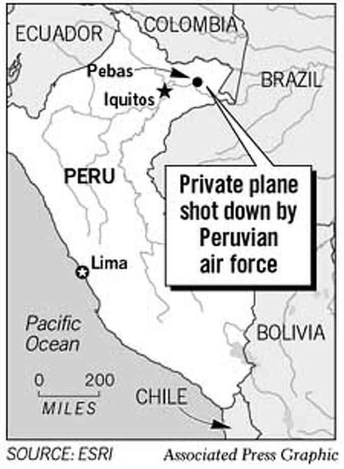 Private Plane Shot Down by Peruvian Air Force. Associated Press Graphic