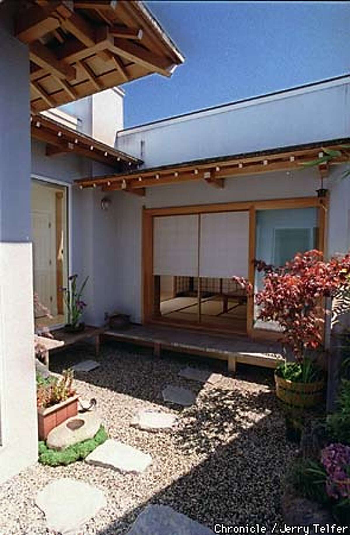 Garden created by artisan Hiroshi Sakaguchi at a San Francisco home where he built a general-purpose 8-tatami room for the owner. 1127 Irving Street --CHRONICLE PHOTO BY JERRY TELFER