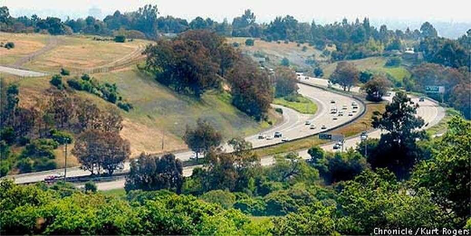 The town of Woodside is lobbying to get more money from the state to lessen the traffic noise along I-280 this photo was taken from the west side looking south .Photo By Kurt Rogers Photo: Kurt Rogers