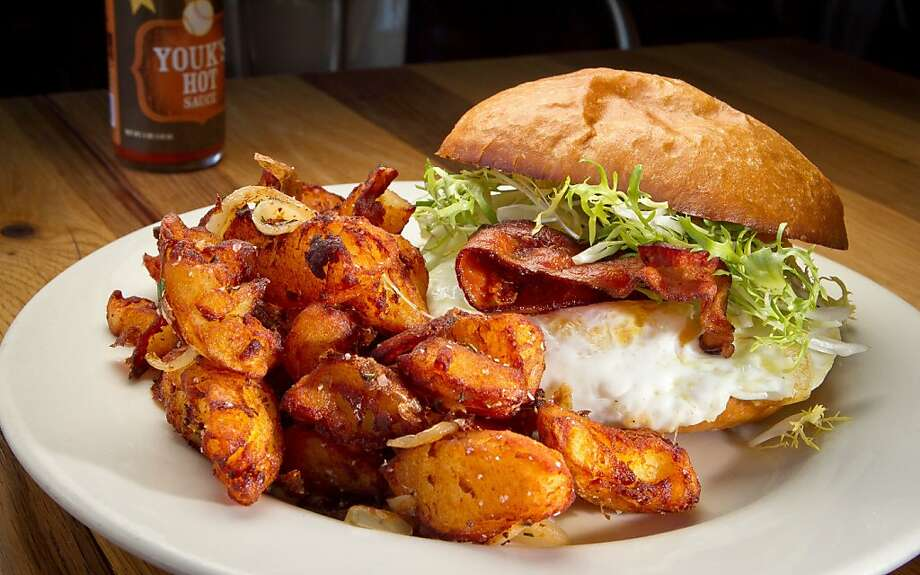 The Fried Egg sandwich at Plow Restaurant in San Francisco, Calif., is seen on Wednesday, January 24th, 2012. Photo: John Storey, Special To The Chronicle