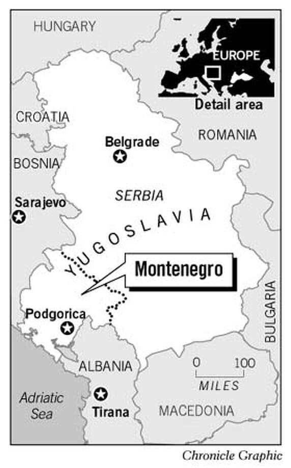 Montenegro, Yugoslavia. Chronicle Graphic