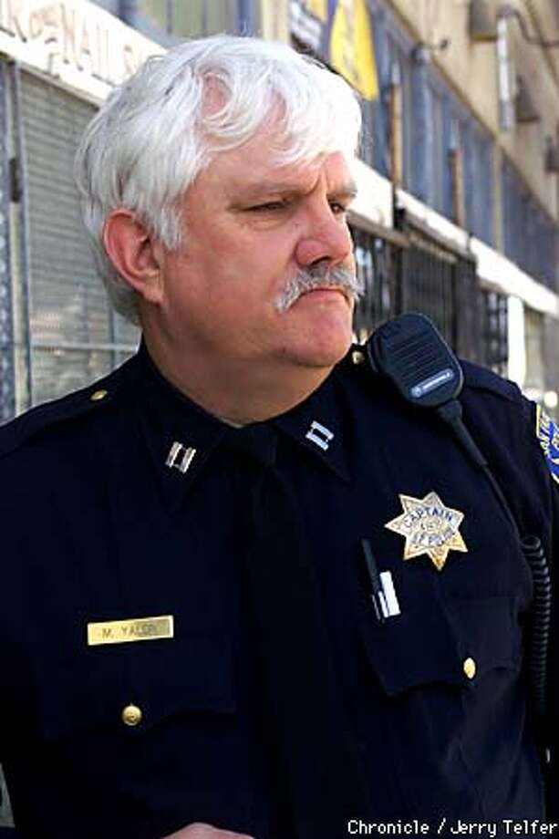 SFPD Capt. Michael Yalon is spearheading a plan for a new police substation. Chronicle photo by Jerry Telfer