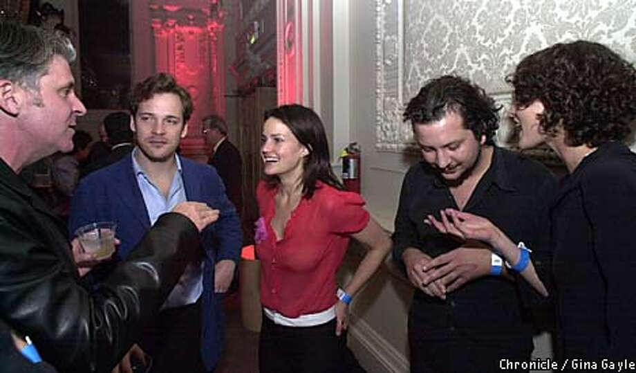 """John Lyons, Peter Sarsgaard, Carla Gugino, Sebastian Gutierrez and Shalom Harlow at the """"Center of the World'' after-party. Chronicle photo by Gina Gayle"""
