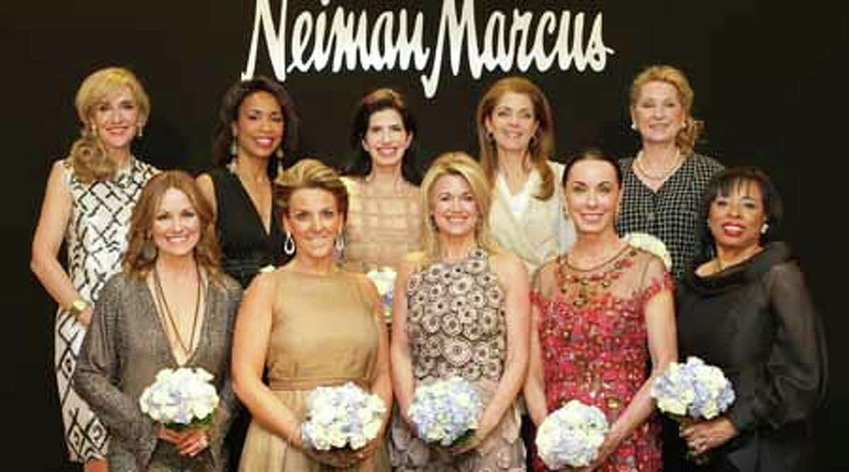 The Houston Chronicle's 2012 Best Dressed honorees attend the announcement party, Wednesday, Feb. 1, 2012, in Neiman Marcus in Houston. Front row left; Lucinda Loya, Mary Tere Perusquia, Millette Sherman, Sue Smith, and Phyllis Williams. Back row left; Jana Arnoldy, Gina Gaston Elie, Dr. Kelli Cohen Fein, Paige Fertitta, and Carol Linn.