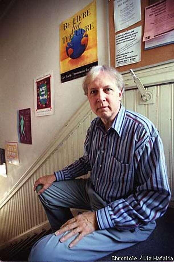 John James, publisher of Aids Treatment News at his home office.  BY LIZ HAFALIA/THE CHRONICLE Photo: LIZ HAFALIA