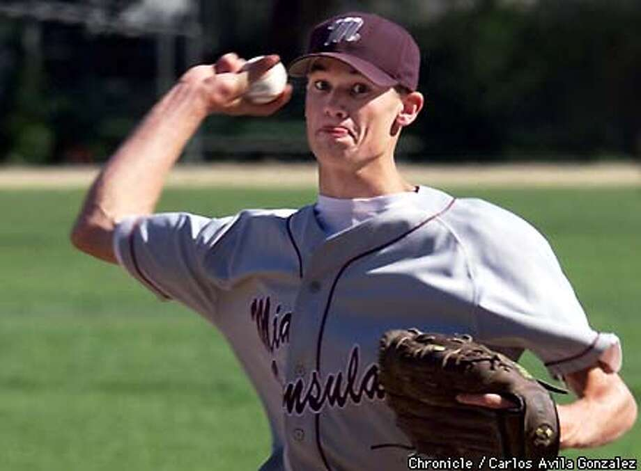 Mid Peninsula High School pitcher Jim Barefield is on a hot pitching streak with two no-hitters. (CARLOS AVILA GONZALEZ/SAN FRANCISCO CHRONICLE) Photo: CARLOS AVILA GONZALEZ