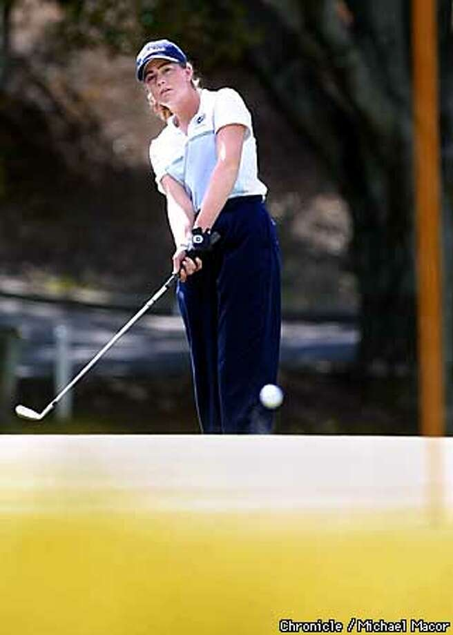 "14 year old Paula Creamer of Pleasanton is coming off a win in the ""World Com"" Tournament, where she compeated in the 13-18 year old age group and shot 2 under par for the two day total. by Michael Macor/The Chronicle Photo: MICHAEL MACOR"