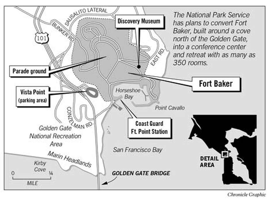Fort Baker. Chronicle Graphic
