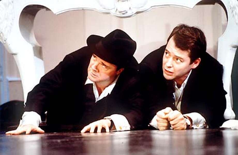 "Nathan Lane, left, stars as a shady Broadway producer and Matthew Broderick plays his twerpy accountant sidekick in ""The Producers."" Handout Photo"