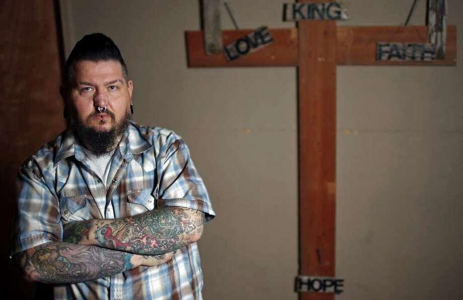 Portrait of Pastor Skip Brooks Sunday Jan. 29, 2012 at Rise Above Ministries. Photo: EDWARD A. ORNELAS, San Antonio Express-News / © SAN ANTONOI EXPRESS-NEWS (NFS)