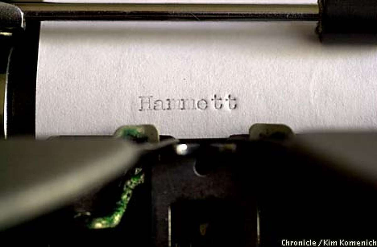 Hammett's name as typed on his old portable Royal. Chronicle photo by Kim Komenich