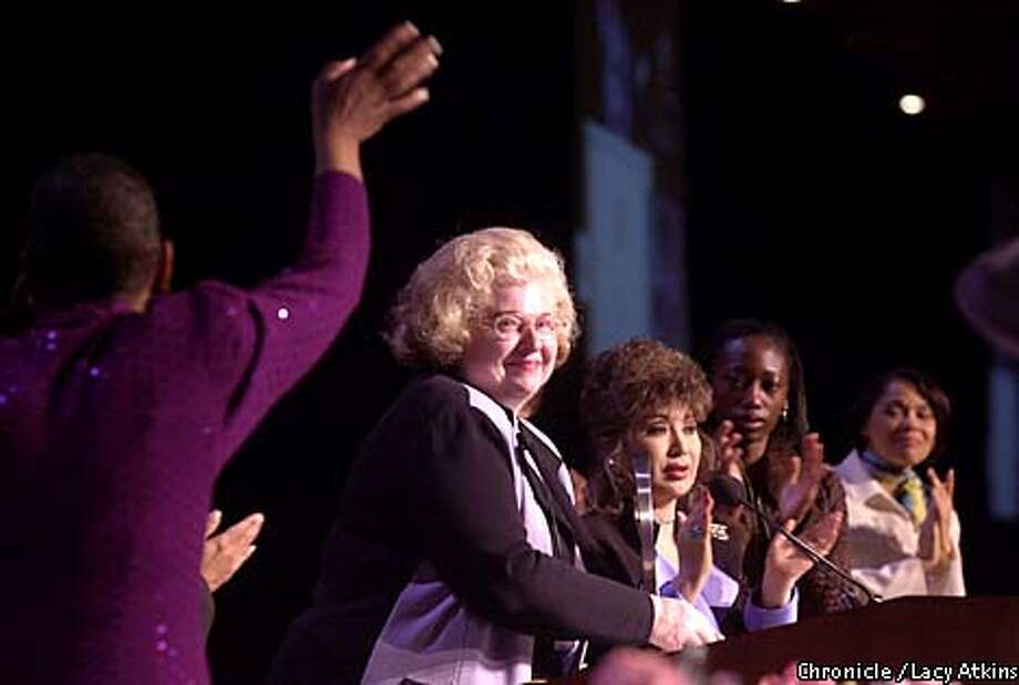 Roe vs. Wade attorney Sarah Weddington received applause at San Francisco's Summit for Women. Chronicle photo by Lacy Atkins