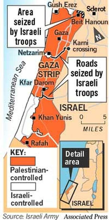 Gaza Strip. Associated Press Graphic