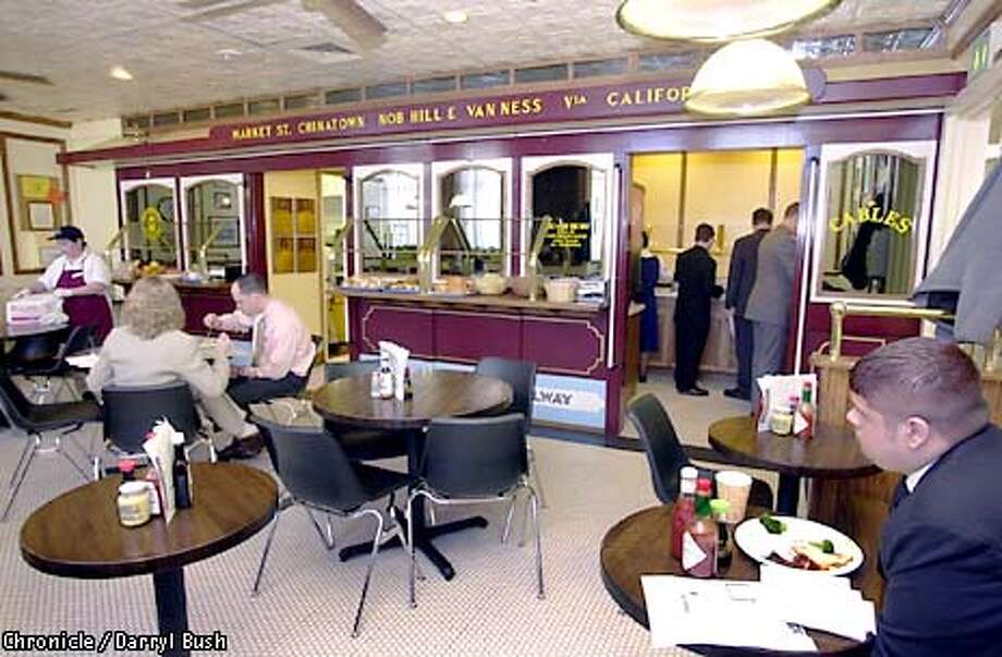 Ritz-Carlton: Cables, the hotel's in-house cafe, prepares buffet-style meals for employees. Chronicle photo by Darryl Bush