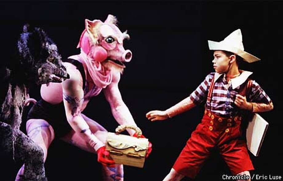 The Fox (Ryan Billia) and The Pig ( Joral Schmalle) steal Pinocchio's (Roberto Cisneros) lunch box and school books. Smuin Ballet Pinocchio at the Yerba Buena Center For the Arts.  BY ERIC LUSE/THE CHRONICLE Photo: ERIC LUSE