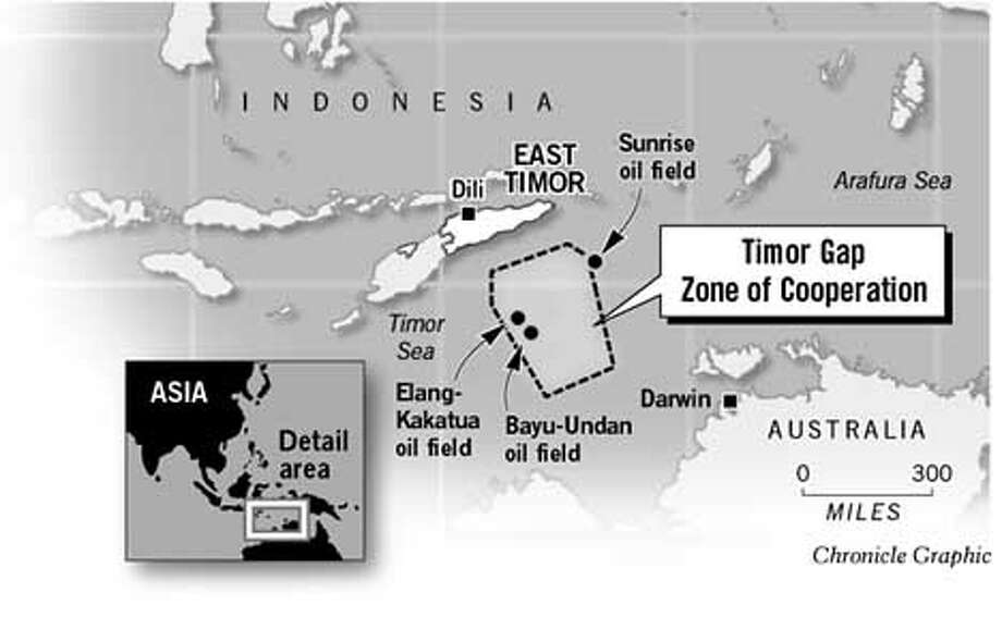 Timor Gap. Chronicle Graphic