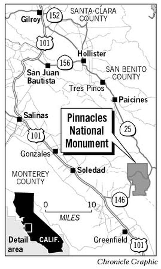 Pinnacles National Monument. Chronicle Graphic