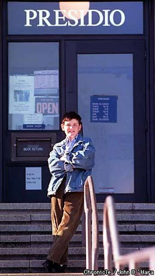 "San Francisco, CA.  ""Presido Libary"", a branch of the SF Libary on Sacramento St. at Baker. 'John O'Connor' age 11 in front of the libary that said ""no"" to his idea of reading to younger kids once a week.  Photo by.........john O'Hara Photo: John O'Hara"
