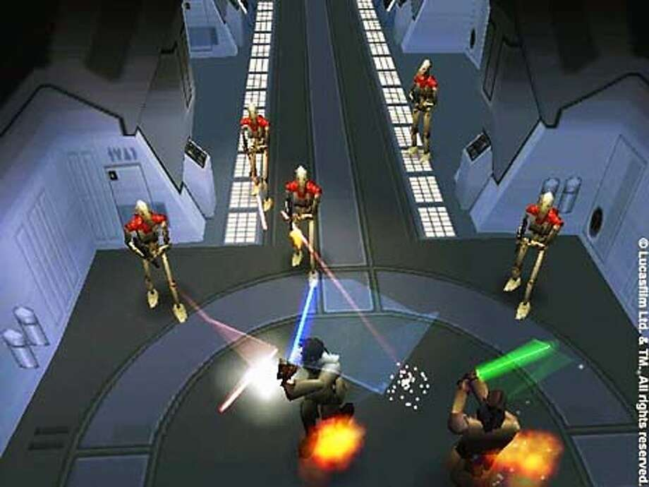 """This is a still frame from the LucasArts game, """"The Phantom Menace.""""  HANDOUT Photo: HANDOUT"""