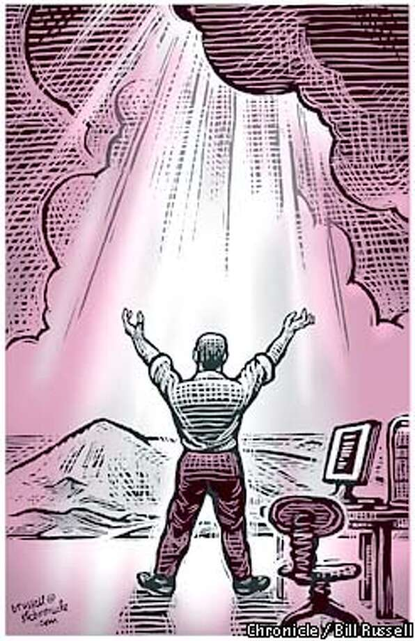 True Believer: Novelist Ron Hansen contends that faith and fiction have similar aims. Chronicle illustration by Bill Russell