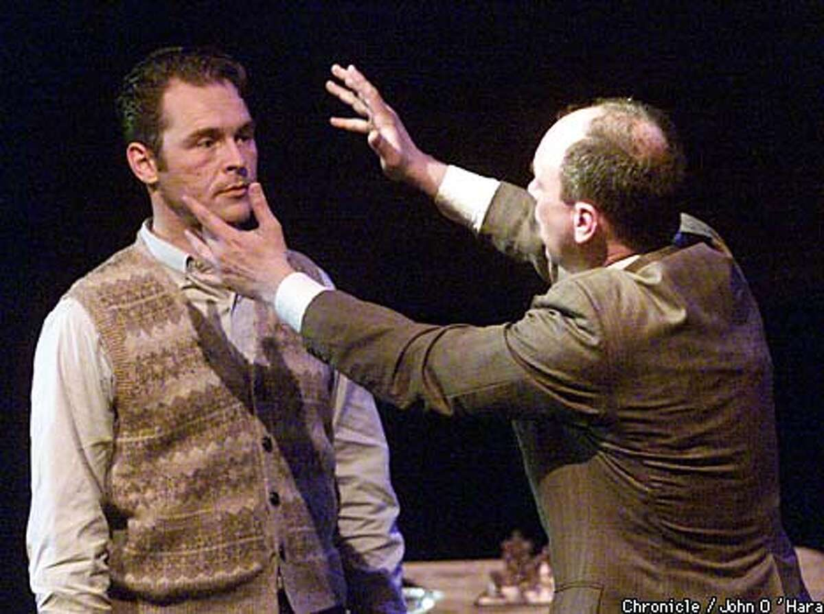 """William Lee (Trauma Flintstone, right) falls for aloof young Eugene Allerton (Shane Kramer) in """"Queer,"""" Erling Wold's opera based on William Burroughs' novel. Chronicle photo by John O'Hara"""