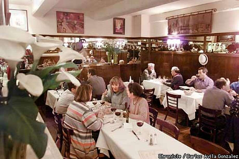 French? Oui: Step into Paris at the Curbside Bistro on Bush Street in the Alliance Francaise de San Francisco. Chronicle photo by Carlos Avila Gonzales
