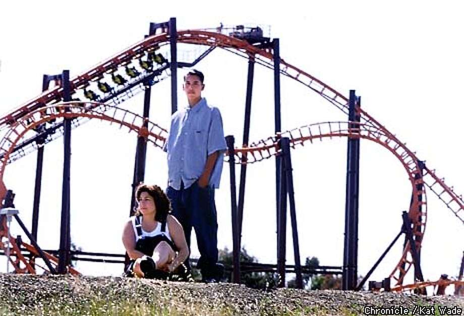 Joey Ramirez, 14, and his mother Kimberly pose in front of Marine World's Kong roller coaster. Last sunday Joey was kicked out of the park and his season pas revoked for belching. SAN FRANCISCO CHRONICLE PHOTO BY KAT WADE Photo: KAT WADE